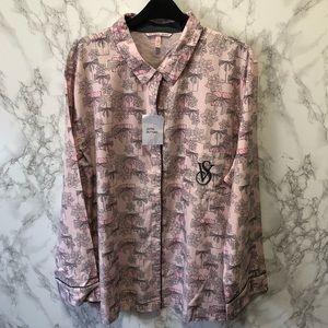 Victoria's Secret NWOT Flannel Pajama Top L & XL